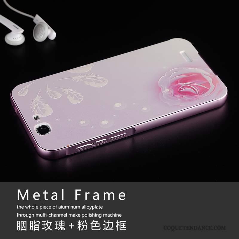 Huawei Ascend G7 Coque Étui Coque De Téléphone Border Rose