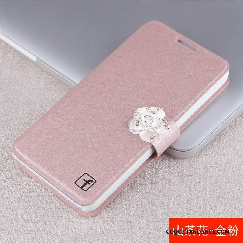 Huawei G7 Plus Coque Étui En Cuir Blanc Strass Housse De Téléphone