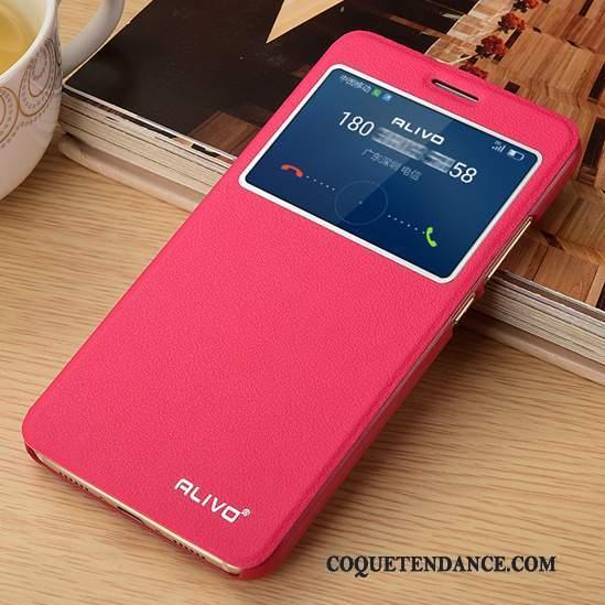 Huawei G9 Plus Coque Incassable De Téléphone Clamshell Rose Étui En Cuir