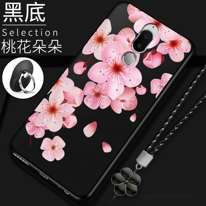 Huawei Mate 10 Lite Coque Personnalité Silicone Rouge Délavé En Daim Incassable