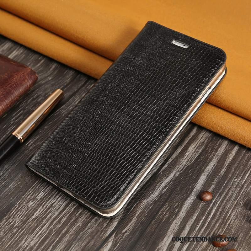 Redmi Note 5 Pro Coque Housse Rouge Cuir Véritable Étui Protection