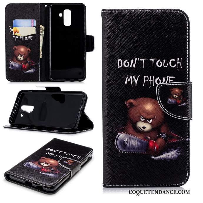 Samsung Galaxy A6+ Coque Étui Protection De Téléphone Clamshell Dessin Animé