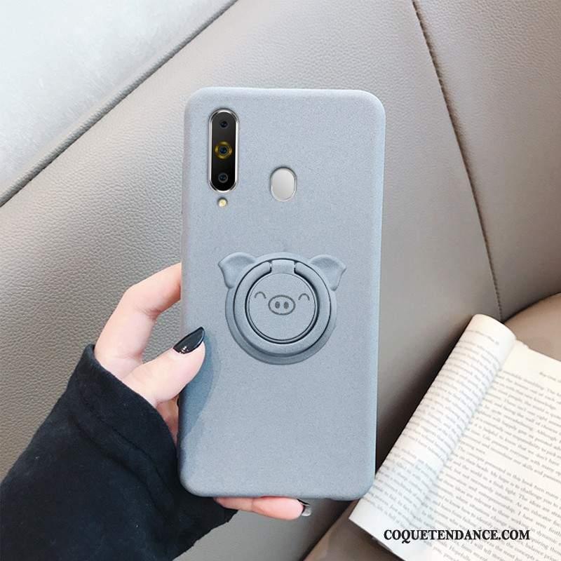 Samsung Galaxy A8s Coque Tout Compris De Téléphone Noir Tendance Délavé En Daim