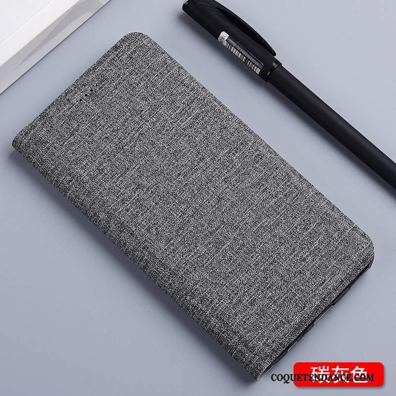 Samsung Galaxy Note 3 Coque Bleu Lin Incassable Étui En Cuir Housse