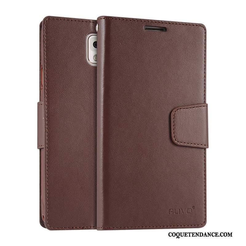 Samsung Galaxy Note 3 Coque Clamshell Étui Étui En Cuir Fluide Doux Silicone
