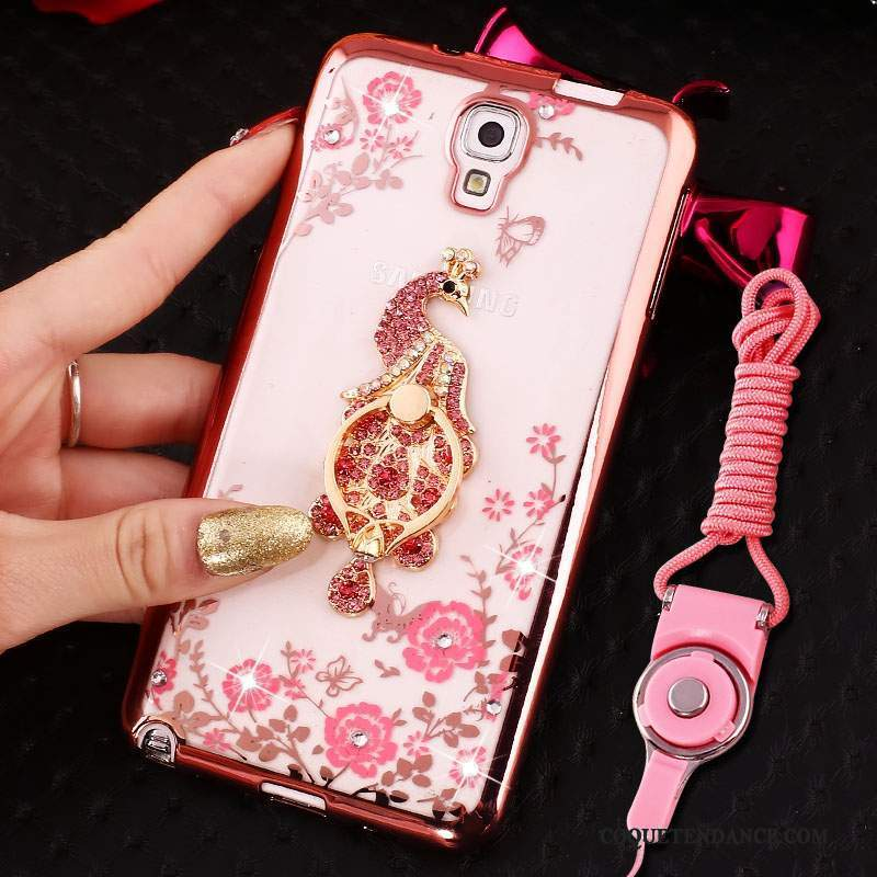 Samsung Galaxy Note 3 Coque Ornements Suspendus De Téléphone Silicone Rose Étui
