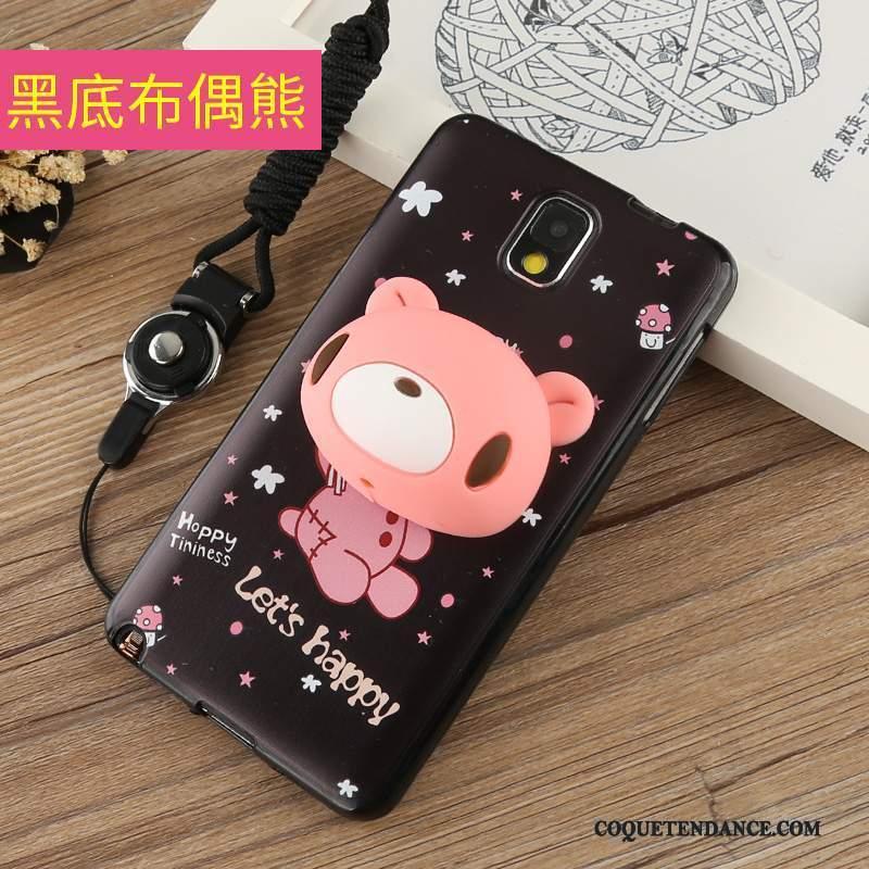 Samsung Galaxy Note 3 Coque Rose Ornements Suspendus Étui Tout Compris