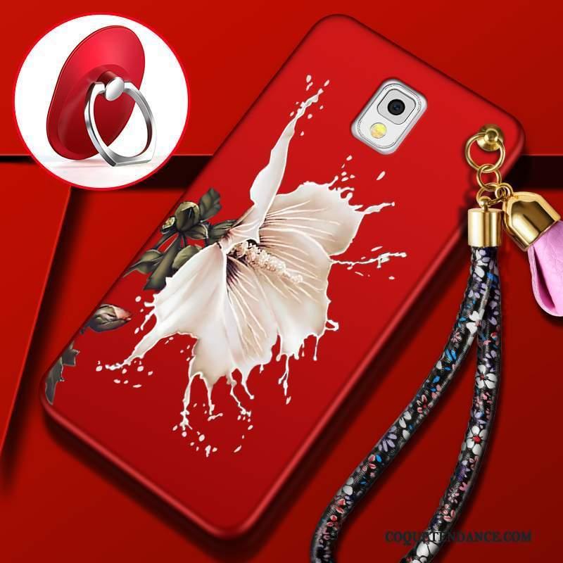Samsung Galaxy Note 3 Coque Rouge Délavé En Daim Incassable Étui