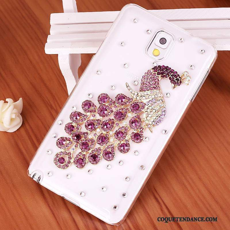 Samsung Galaxy Note 3 Coque Violet De Téléphone Strass Étui Protection