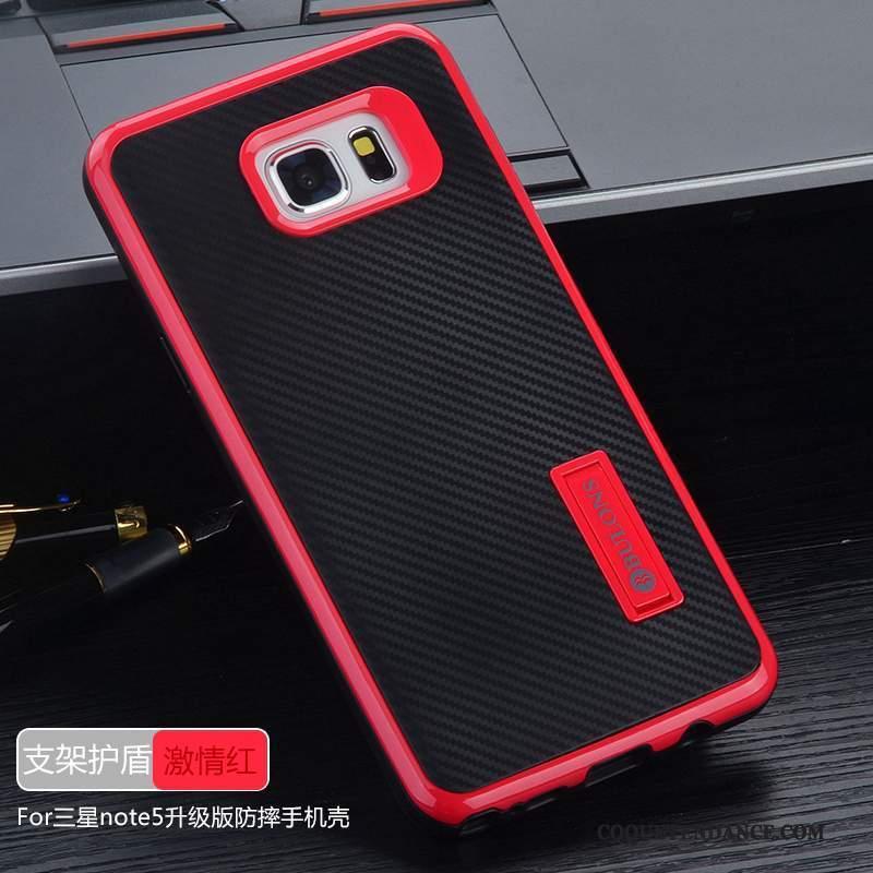 Samsung Galaxy Note 5 Coque Étui Couvercle Arrière Tout Compris Rouge De Téléphone