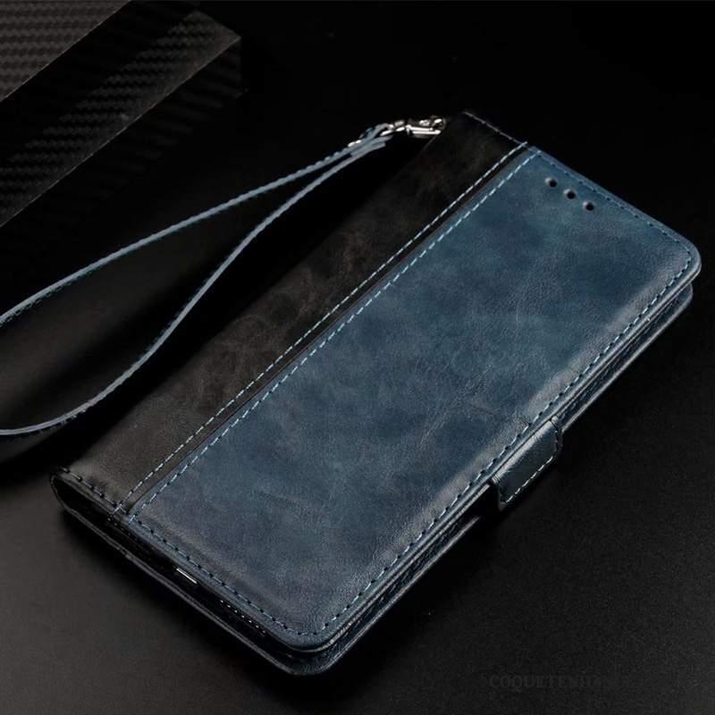 Samsung Galaxy S10 5g Coque Étui En Cuir Business Bleu Housse