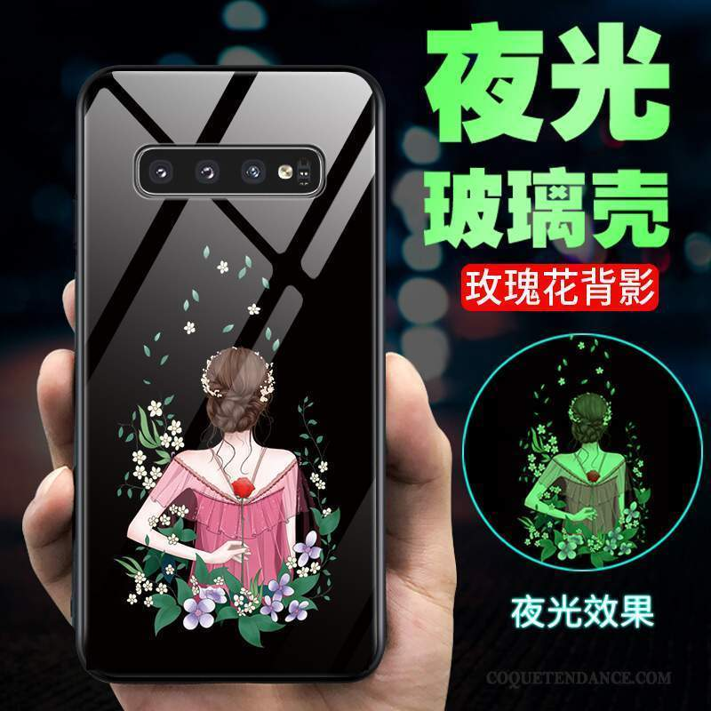 Samsung Galaxy S10+ Coque Protection Incassable Lumineuses Verre Mode