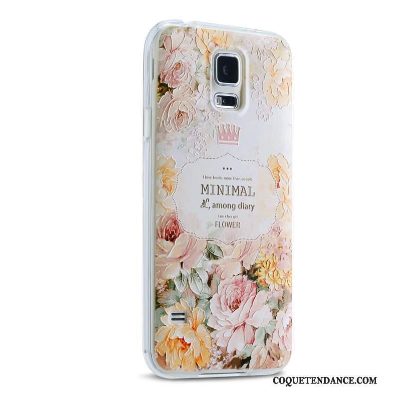 Samsung Galaxy S5 Coque Étui Tendance Vert Silicone De Téléphone