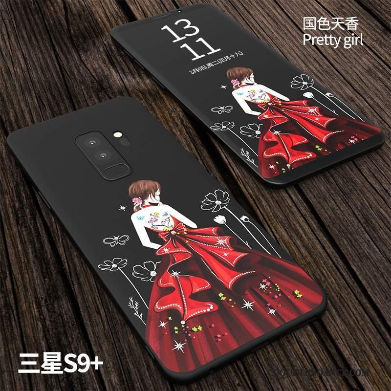 Samsung Galaxy S9+ Coque Créatif Silicone De Téléphone Incassable Délavé En Daim