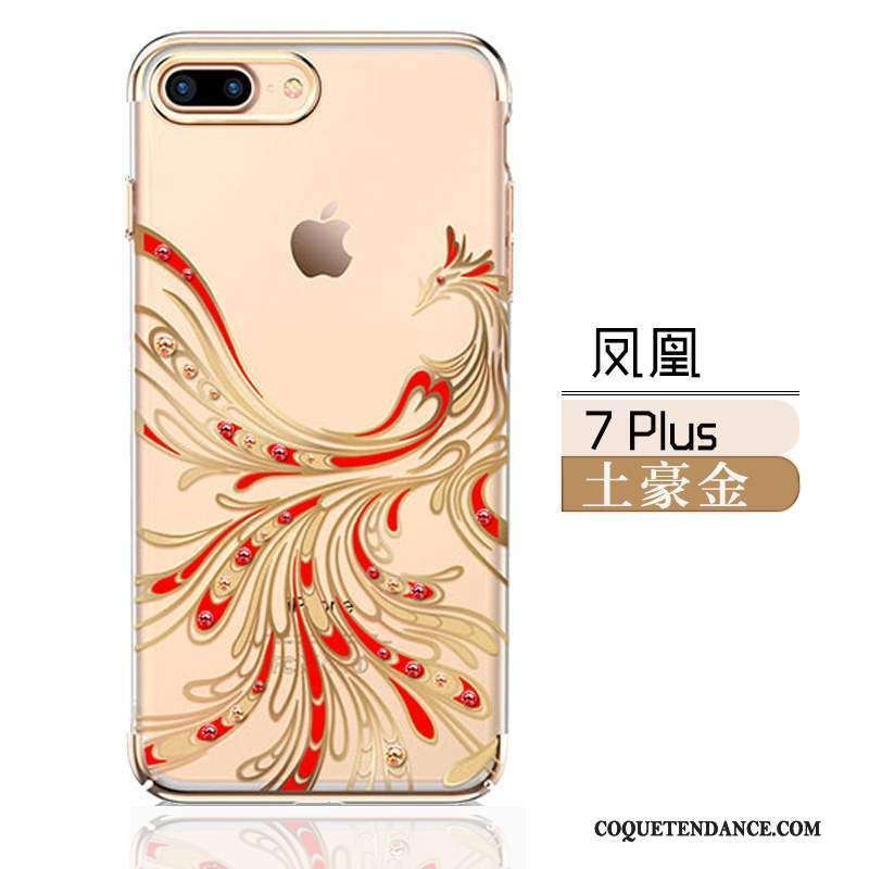 iPhone 7 Plus Coque De Téléphone Difficile Tout Compris Noir Strass