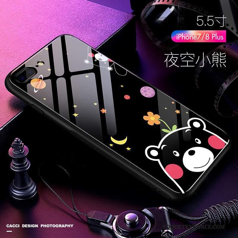 iPhone 7 Plus Coque Tout Compris Incassable Silicone Charmant Dessin Animé