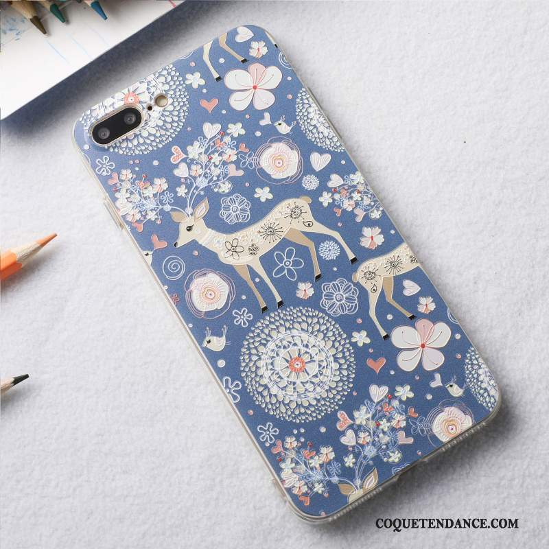 iPhone 8 Plus Coque Petit Prune Bleu Tout Compris Cerf