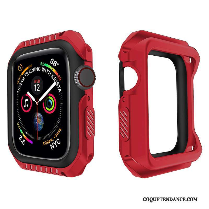 Apple Watch Series 1 Coque Étui Silicone Fluide Doux Rouge Incassable