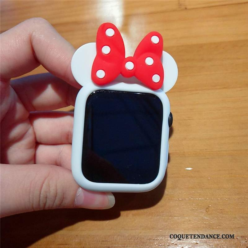 Apple Watch Series 1 Coque Incassable Mignonne Blanc Silicone