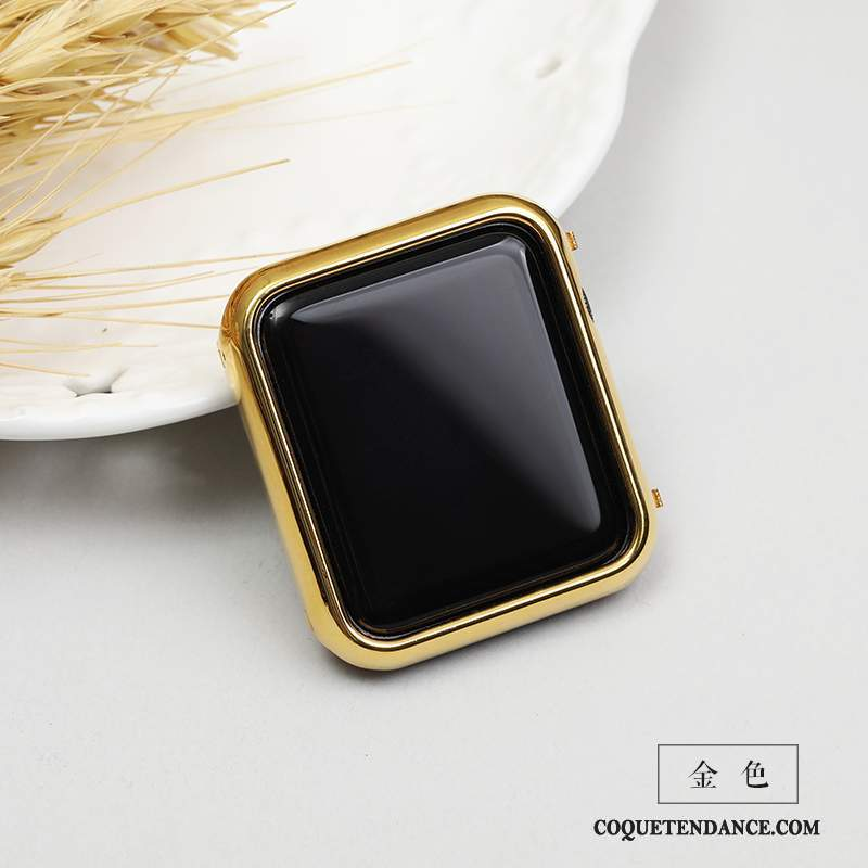 Apple Watch Series 1 Coque Modèle Étui Placage Or Membrane