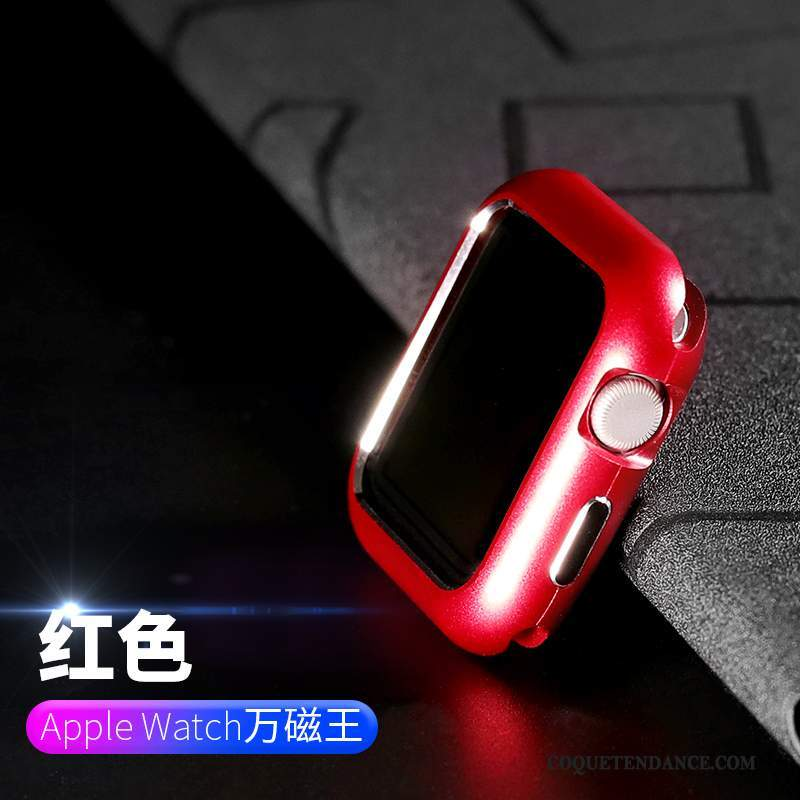 Apple Watch Series 2 Coque Métal Border Rouge Incassable