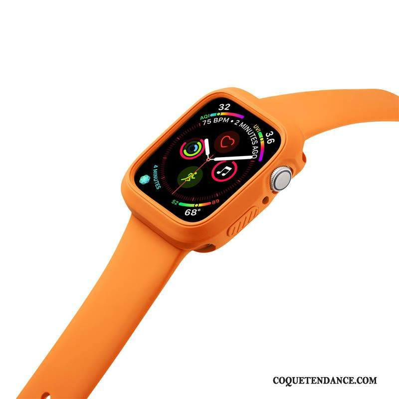 Apple Watch Series 2 Coque Orange Silicone Sport Incassable