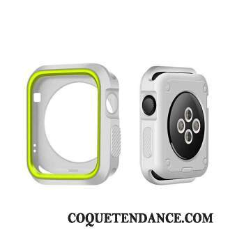 Apple Watch Series 2 Coque Silicone Étui Bicolore Blanc