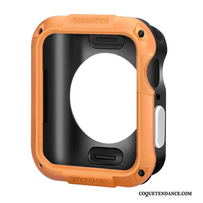 Apple Watch Series 5 Coque Border Protection Silicone Orange