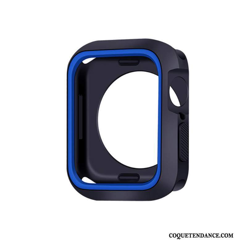 Apple Watch Series 5 Coque Fluide Doux Silicone Protection Bleu