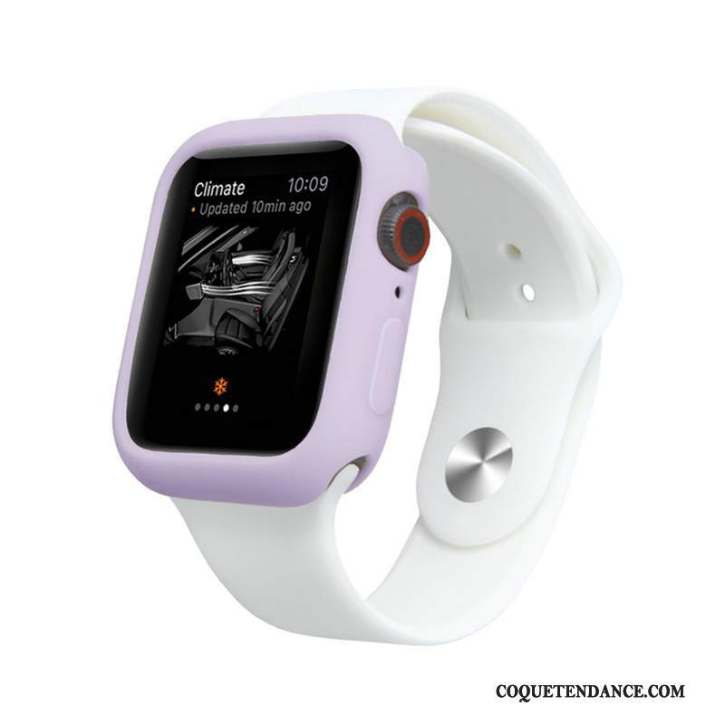 Apple Watch Series 5 Coque Silicone Tout Compris Violet Fluide Doux Protection
