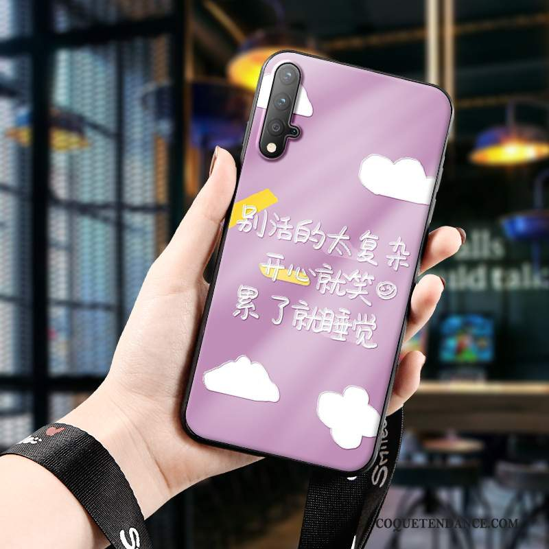 Honor 20 Coque Silicone Protection Gaufrage Violet Incassable