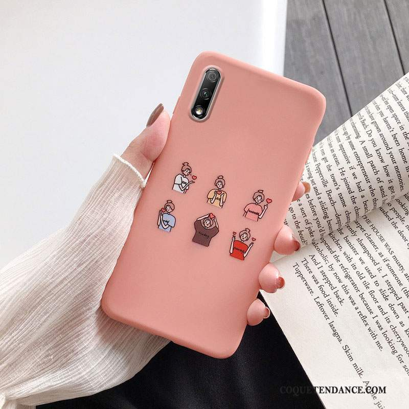 Honor 9x Coque Protection Étui Rose Silicone