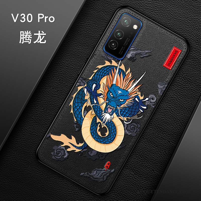 Honor View30 Pro Coque Incassable Gaufrage Personnalité Vintage Protection