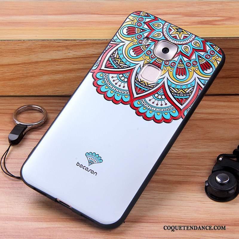 Huawei G9 Plus Coque Étui Silicone Blanc Incassable