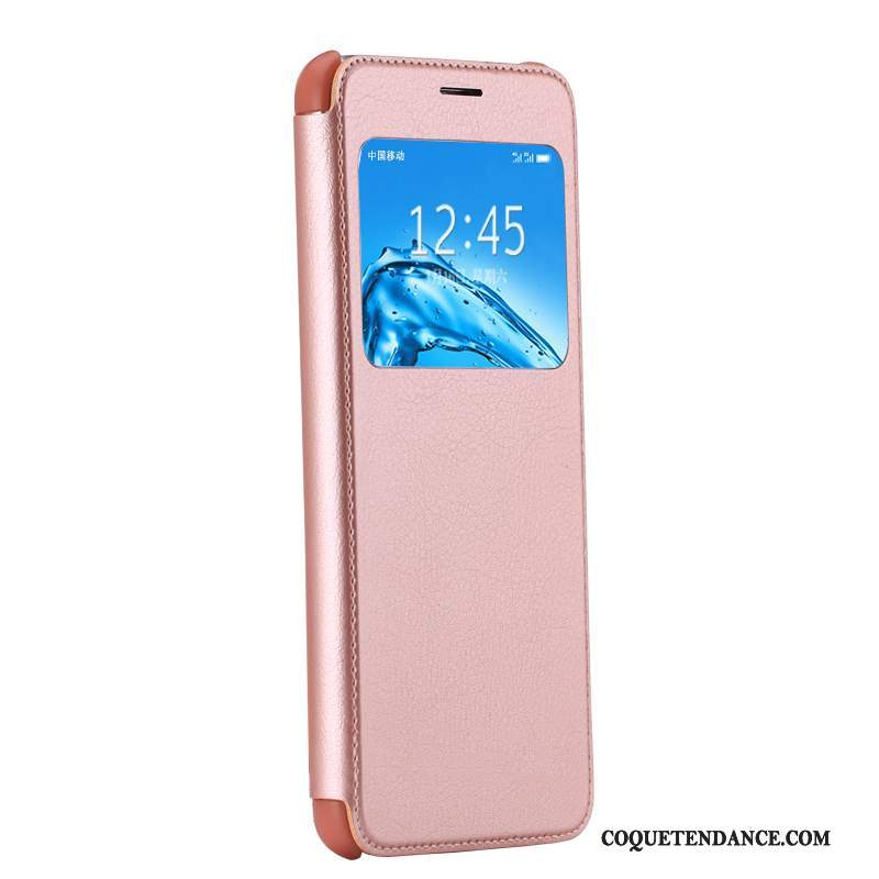 Huawei G9 Plus Coque Clamshell Étui En Cuir Or Rose Dragon Incassable