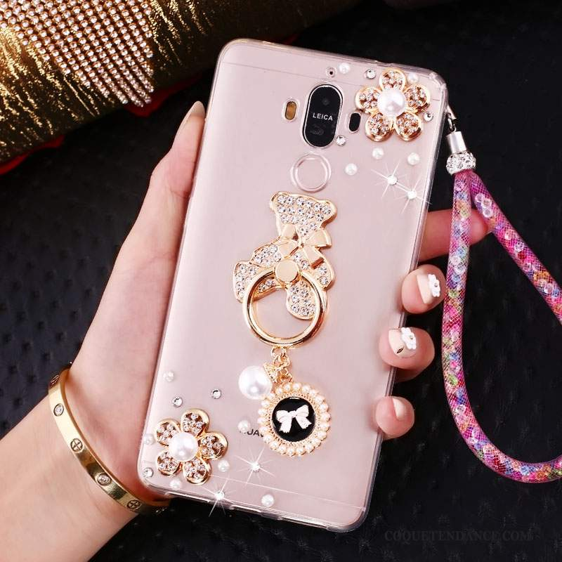 Huawei Mate 10 Pro Coque Incassable Silicone Strass Ornements Suspendus Fluide Doux