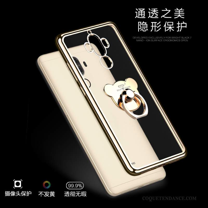 Huawei Mate 9 Coque Tendance Incassable Silicone Support Or