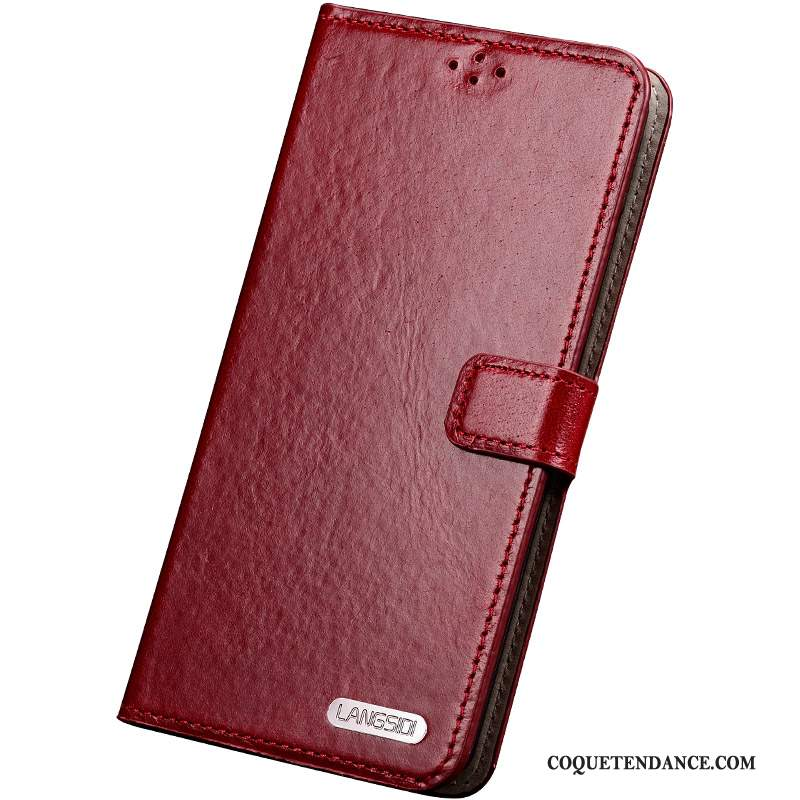 Huawei Mate S Coque Étui En Cuir Vin Rouge Protection Silicone Incassable