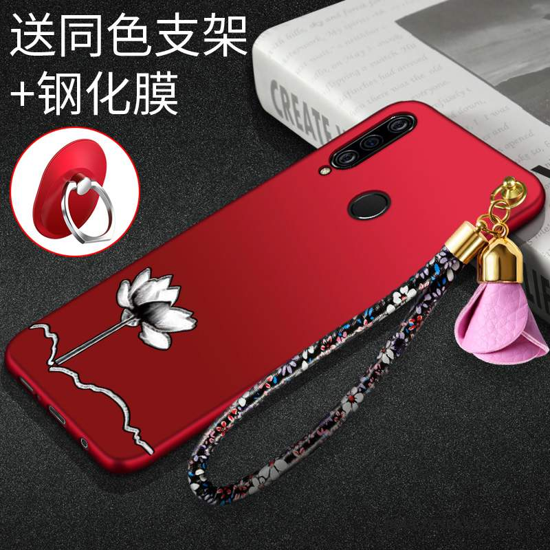 Huawei P Smart+ 2019 Coque Protection Rouge Mode Étui