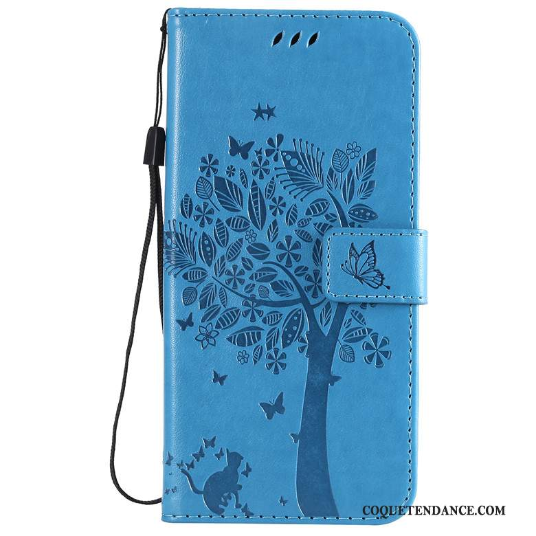 Huawei P Smart Z Coque Housse Bleu Protection Fluide Doux Chat