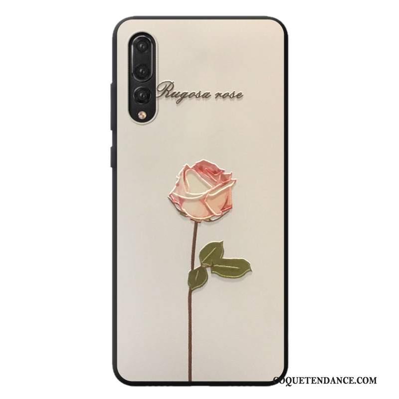 Huawei P20 Pro Coque De Téléphone Personnalité Blanc Silicone Frais