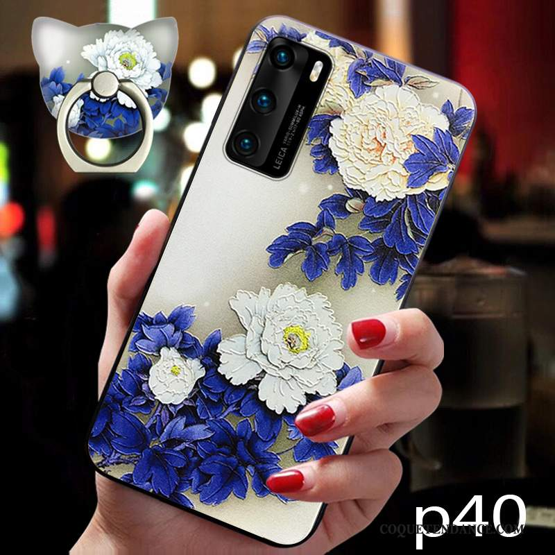 Huawei P40 Coque Style Chinois Incassable Vent Étui Silicone