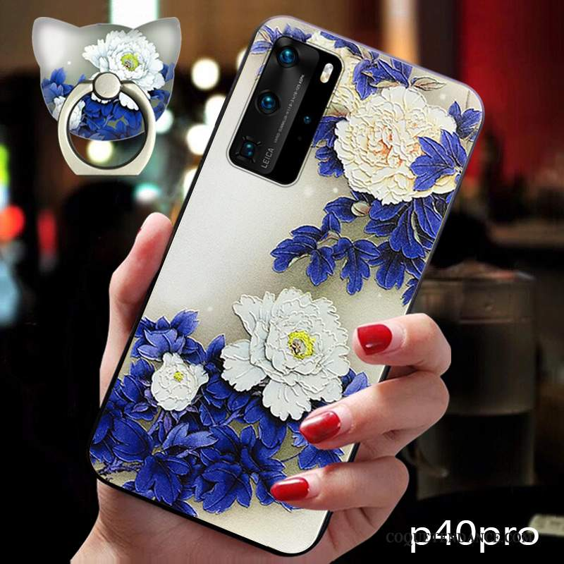 Huawei P40 Pro Coque Style Chinois Vintage Vent Ornements Suspendus