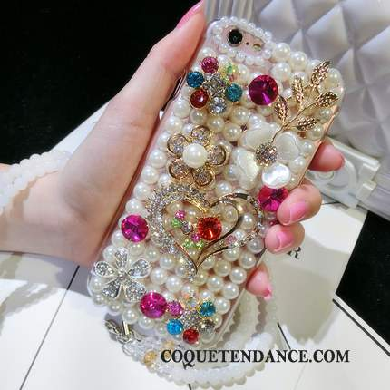 Huawei P9 Coque Incruster Strass Protection Étui Multicolore Pétale