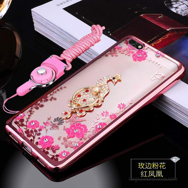 Huawei Y5 2018 Coque Protection Incassable Fluide Doux Silicone Rose