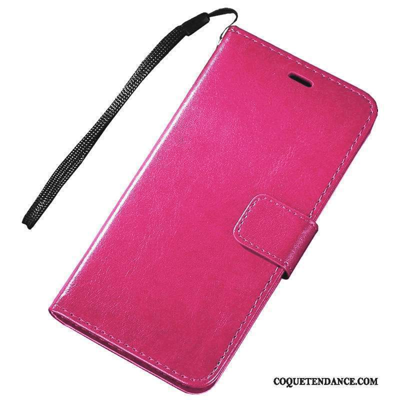 Lg K4 Coque Étui Support Étui En Cuir Incassable Rouge