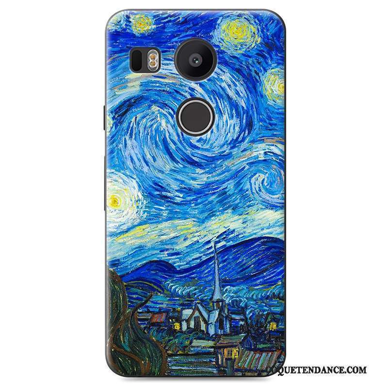 Lg Nexus 5x Coque Étui Incassable Difficile Bleu