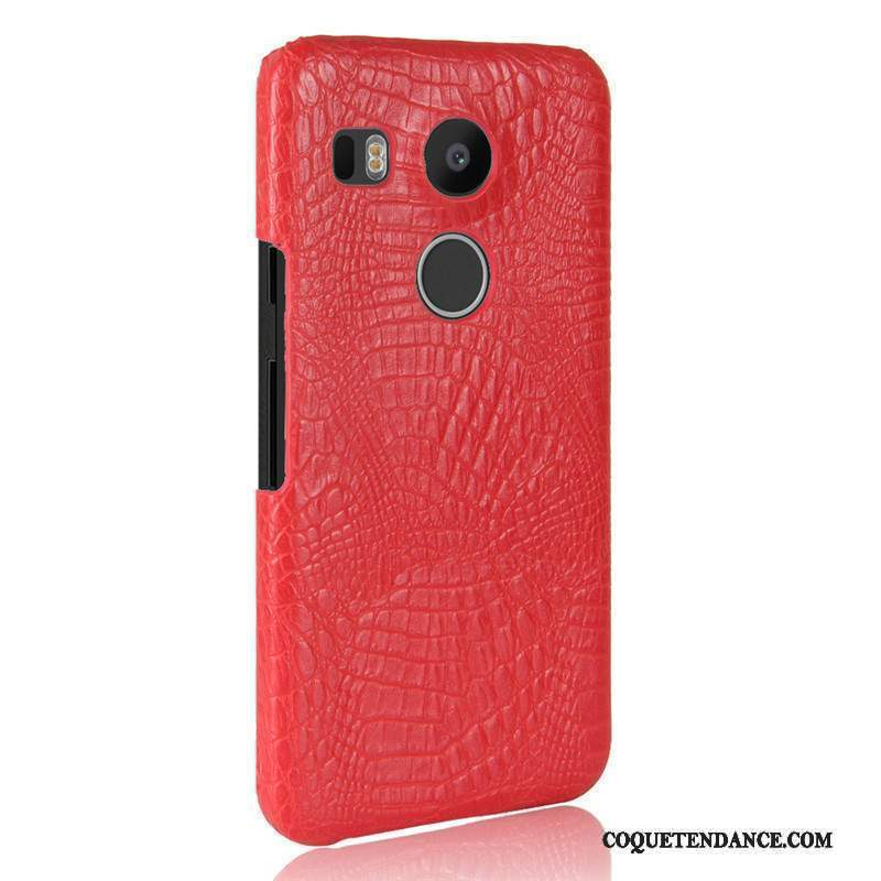 Lg Nexus 5x Coque Cuir Difficile Crocodile Modèle Protection