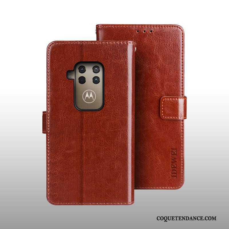 Motorola One Zoom Coque Portefeuille Protection Housse Étui En Cuir