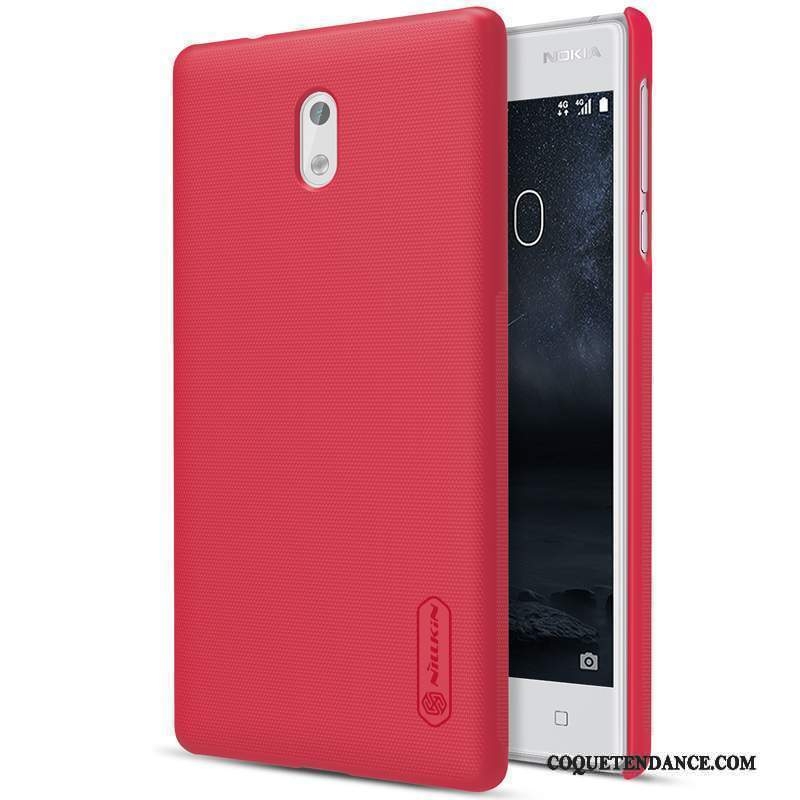 Nokia 3 Coque Protection Rouge Difficile Étui